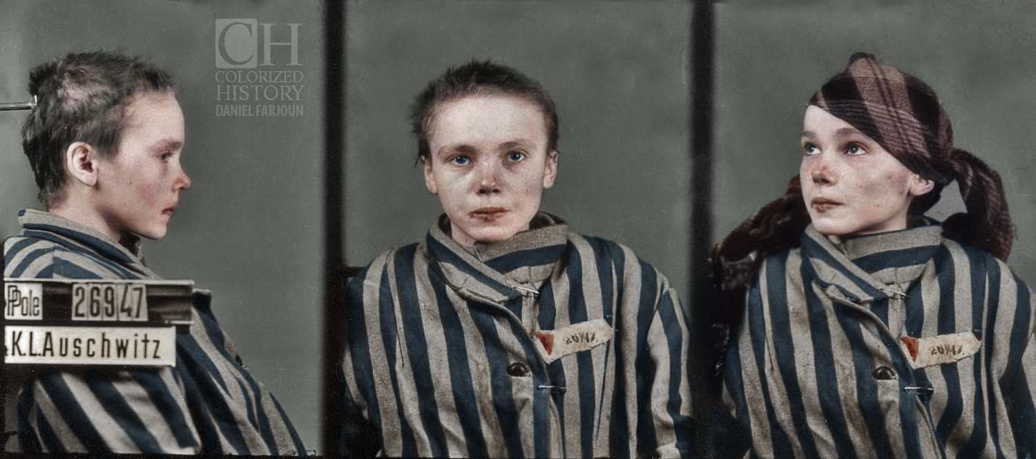 Holocaust Seen in Colors - Auschwitz Victim
